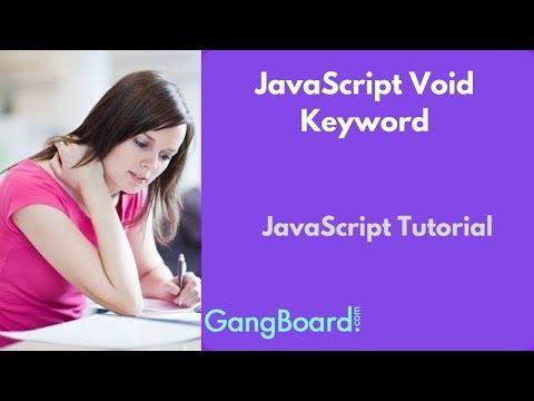JavaScript Void Keyword | JavaScript Tutorial For Beginners thumbnail