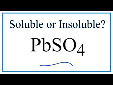 Is PbSO4 Soluble Or Insoluble In Water?