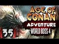 Age of Conan Unchained Gameplay : World Boss Serpent Man Oldblood