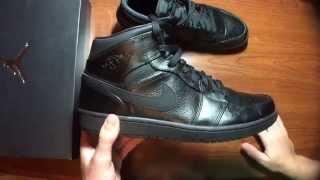 NIKE AIR JORDAN 1 MID CLASSIC BLACK REVIEW! +on feet