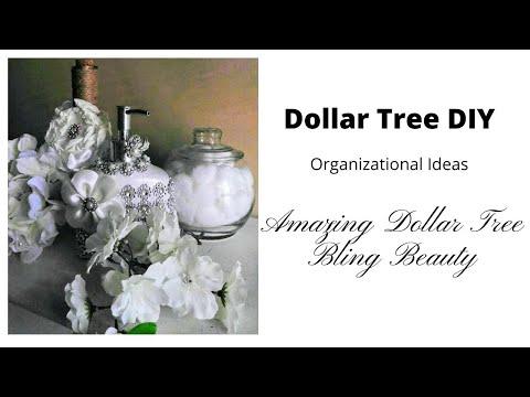 DIY Amazing DollarTree Bling Beauty Organizational Ideas💎| DIY Glam- Never Seen Until Now💖