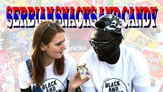 Nigerian tries old fashion Serbian Candy - Nigerijac jede srpske slatkiše po prvi put