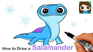 How to Draw Bruni the Fire Salamander | Disney Frozen 2
