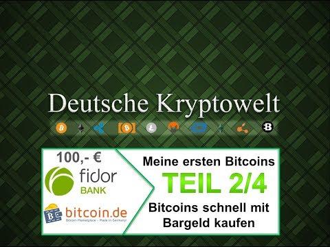 Bitcoins kaufen mit Fidor Girokonto und Bitcoin.de Teil 2/4 - Registierung/Legitimierung Bitcoin.de