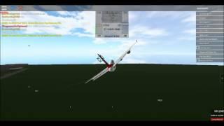 Roblox | Virgin Atlantic A340 landing (with go around)
