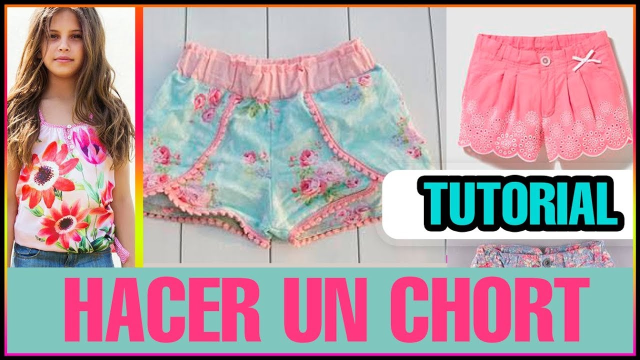 8ecafe64ce Cómo hacer shorts super fácil y bonitos paso a paso♥ - YouTube