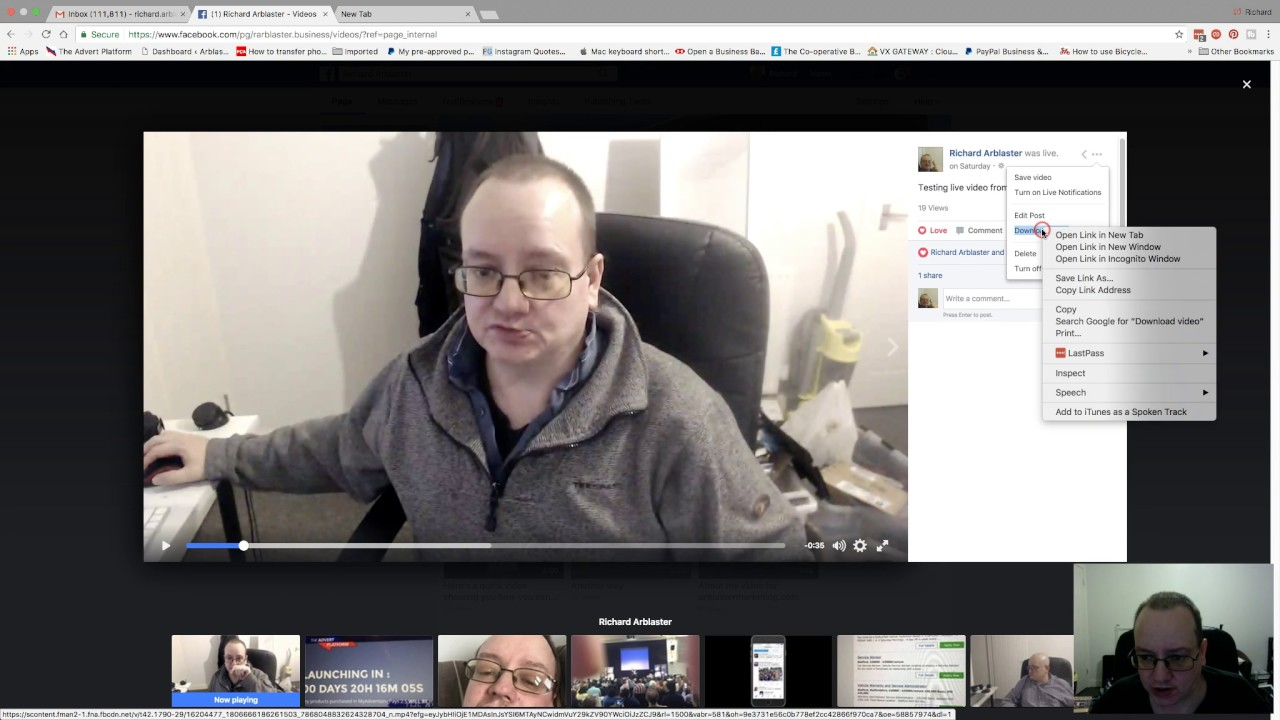 How to choose where to download and rename your Facebook live videos