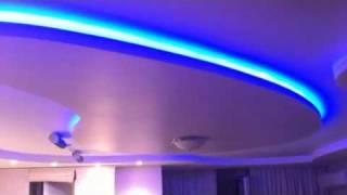 Светодиодная подсветка потолка лентой 5060 30led 12V RGB(Светодиодная, многоцветная подсветка потолка лентой 5060 30 led rgb 12 v., 2010-08-21T11:06:22.000Z)