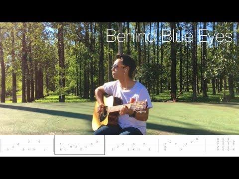 Limp Bizkit Behind Blue Eyes Fingerstyle Guitar Lesson FREE TABS Tutorial - Rodrigo Yukio