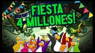 Guía ¡Fiesta de 4 MILLONES! - Club Penguin Online