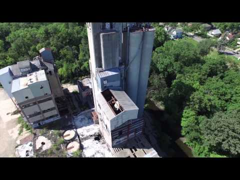 Drone Footage of the Fruen Mill and Downtown Minneapolis
