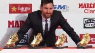 BARÇA - Lionel Messi remporte son 4e Soulier d'Or...