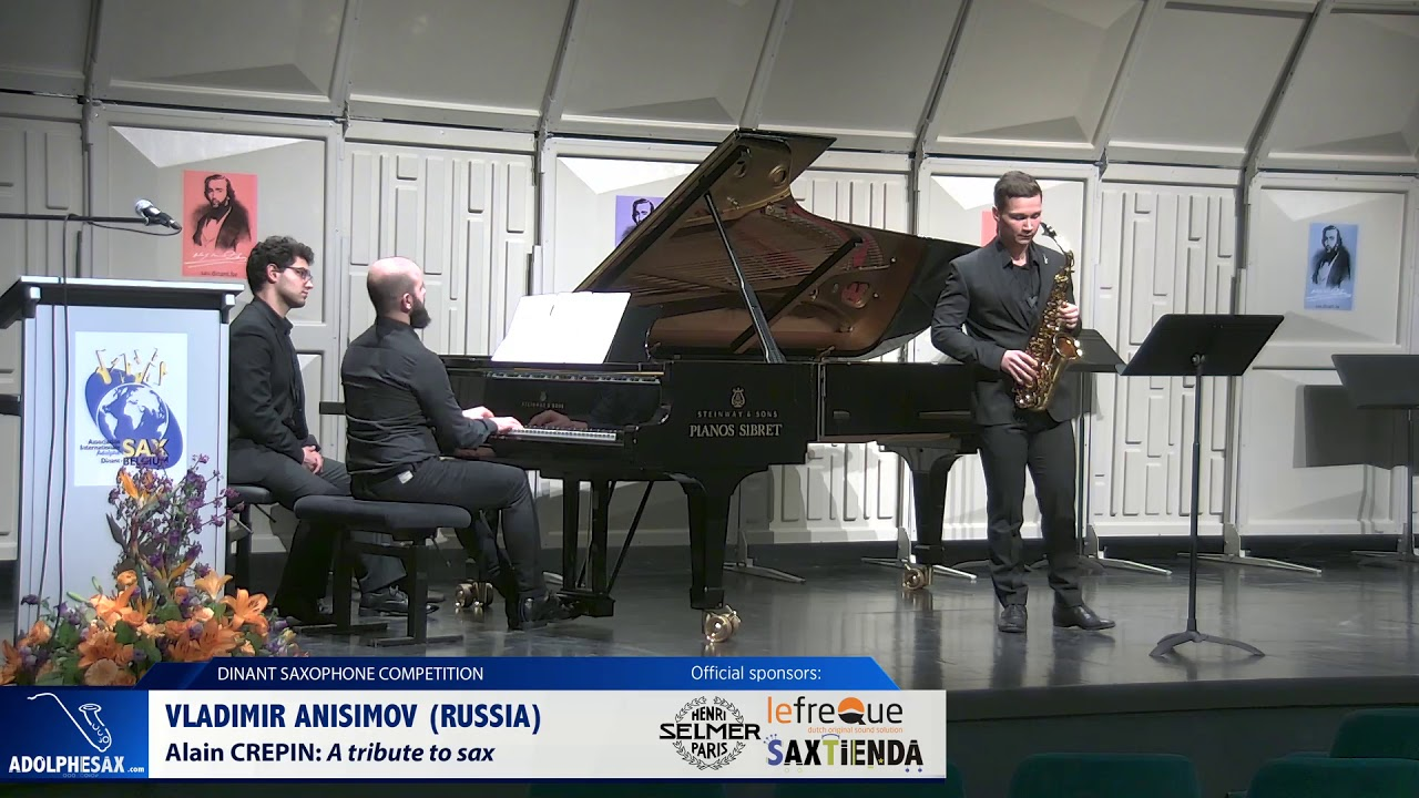 Vladimir Anisimov (Russia) - A tribute tu sax by Alain Crepin  (Dinant 2019)