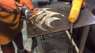 Sheet Metal Spadefish Wall Sculpture