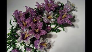 Колокольчики полевые из бисера.  Часть 5/5. // Field flowers of a bell from beads.