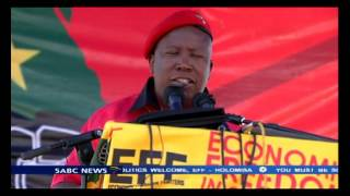 Julius Malema, formally launched his political party - the Economic Freedom Fighters.
