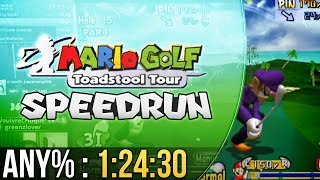 Mario Golf: Toadstool Tour Any% Speedrun in 1:24:30