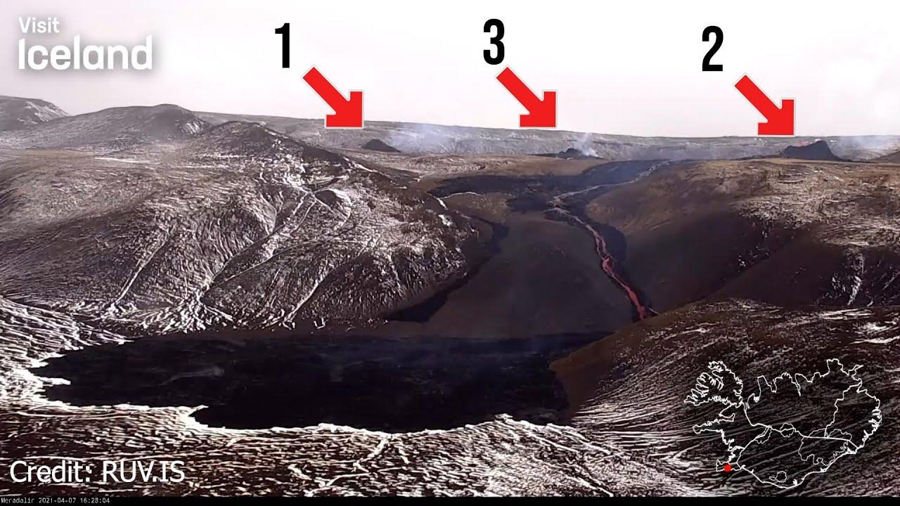 Vulkan Fagradalsfjall auf Island wird aktiver - Bereits 3 Risse?