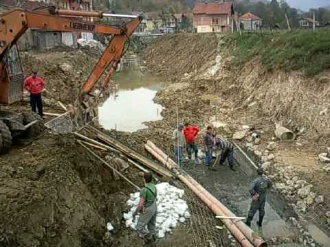Uređenje riječnog korita u Sapni