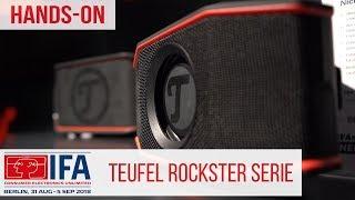 Teufel Rockster Go und Cross wasserdichte Bluetooth Speaker  - Hand-On #IFA2018