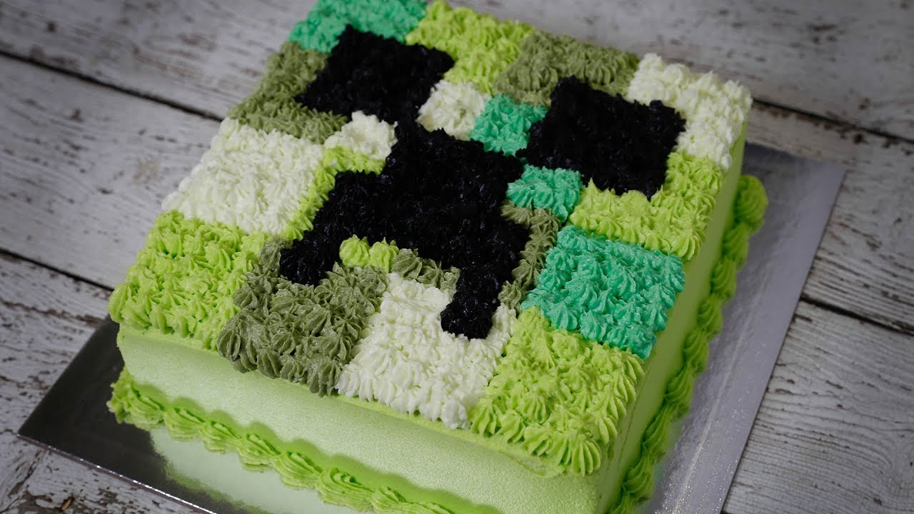 Minecraft Birthday Cake In The Way You Love Youtube