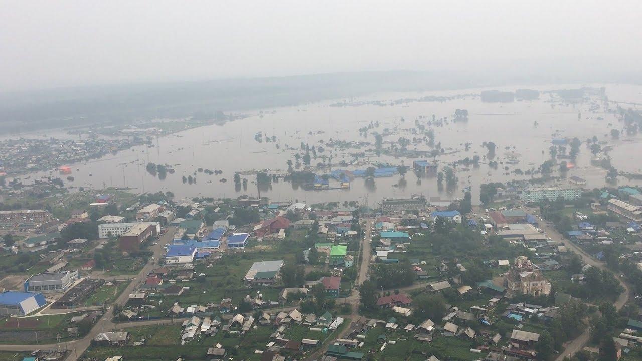 В Тулуне резко поднялся уровень воды в реке Ия