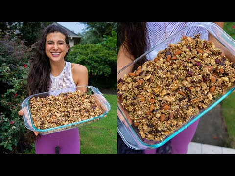 Raw Vegan Granola Recipe! Perfect Protein Snack or Breakfast!