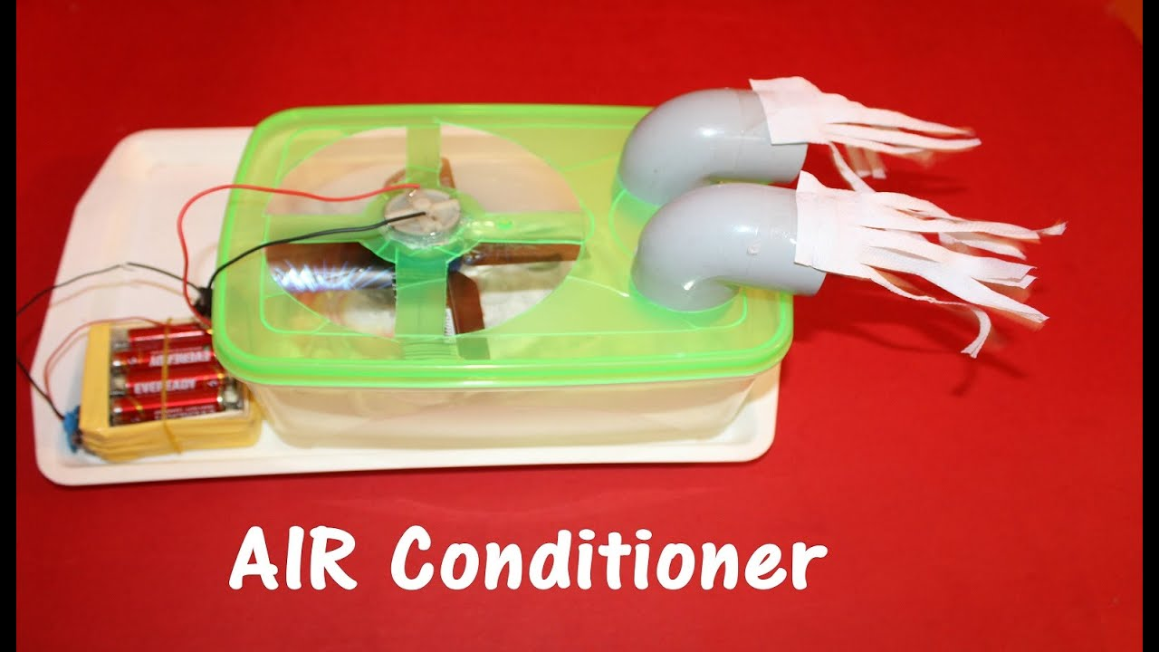 How To Make Air Conditioner At Home Easy Youtube
