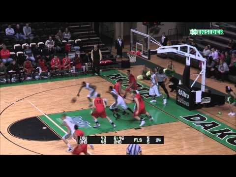 Troy Huff - Epic sequence: Dunk, lay-up and finish - North Dakota basketball 1-9-14