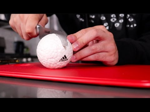 WHATS INSIDE AN ADIDAS BOOST BALL!!