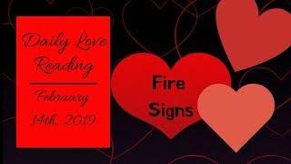 ARIES*LEO*SAGITTARIUS*FEB 14, 2019 DAILY LOVE READING