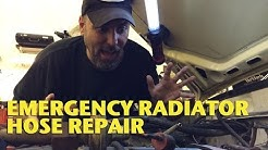 Emergency Radiator Hose Repair -EricTheCarGuy