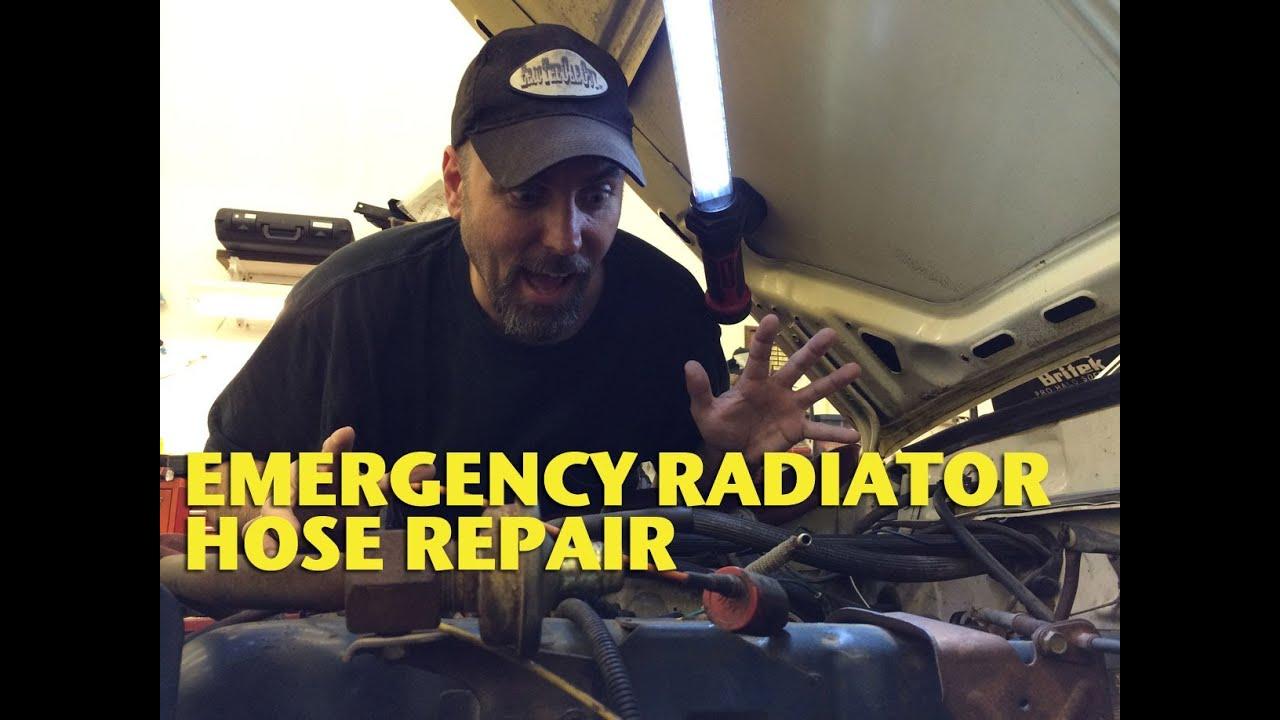 Emergency Radiator Hose Repair Ericthecarguy Youtube