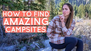 HOW TO FIND AMAΖING CAMPSITES: Campgrounds vs Dispersed Camping (free camping!)