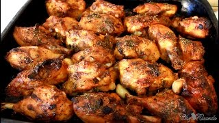 Garlic Oven Baked Chicken Recipe (JAMAICAN WAY OF COOKING !!)