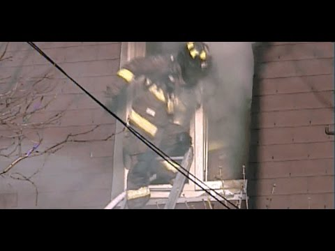 Toronto Fire Services: 3 Firefighters Dive from Window of Burning House