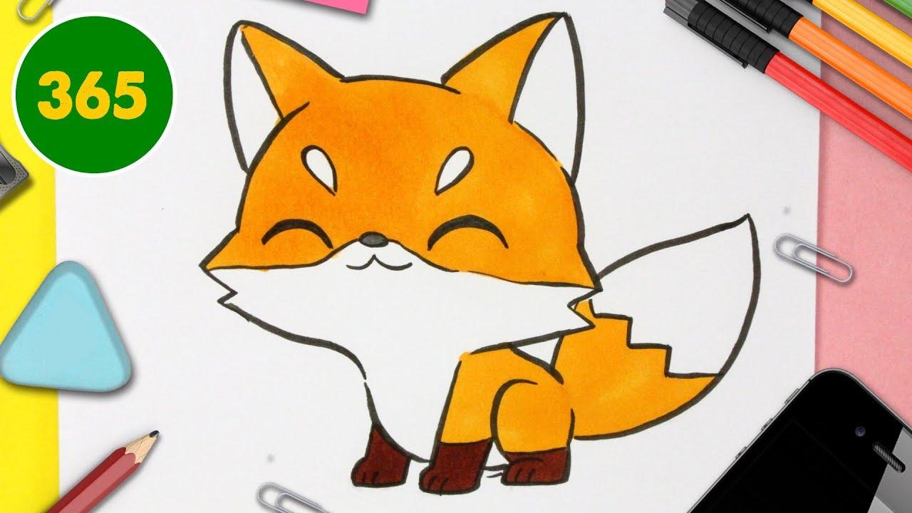 Comment Dessiner Renard Kawaii Dessins Kawaii Faciles Apprendre A Dessiner Des Animaux Kawaii Youtube