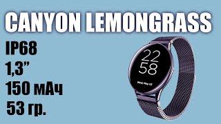 Обзор смарт часов CANYON Lemongrass