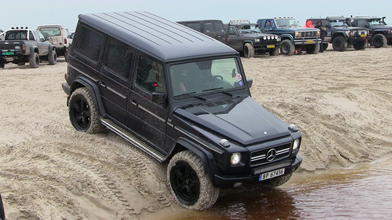mercedes benz g class 280ge g400 4x4 off road l kken beach tour 2016 youtube. Black Bedroom Furniture Sets. Home Design Ideas