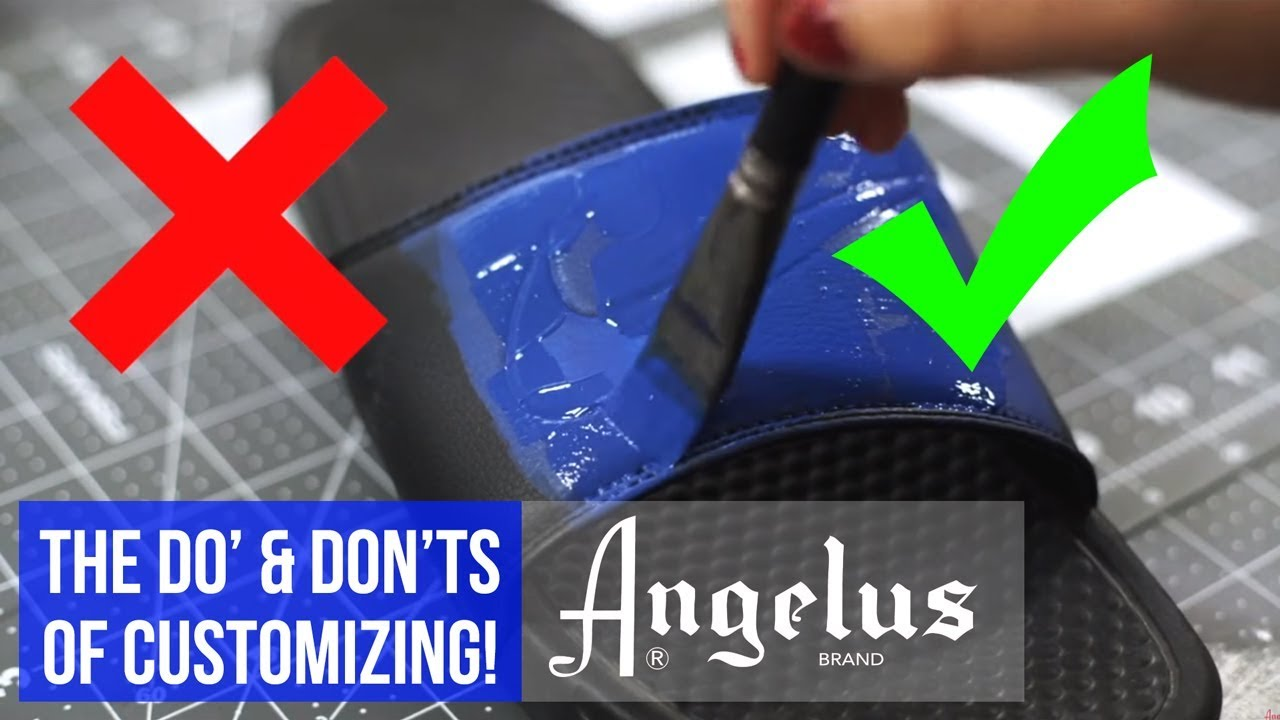 7c3c765cf5eb The Do s   Don ts of Using Angelus Paints. Angelus Shoe Polish