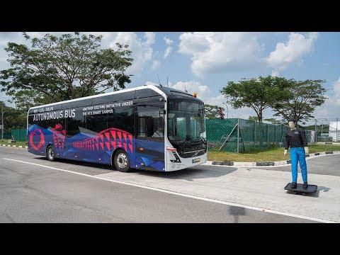 沃爾沃自動駕駛公交問世,滿車都是黑科技,將在國外上路