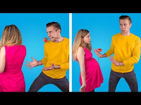 Я беременна! Беременная против не беременной девушки