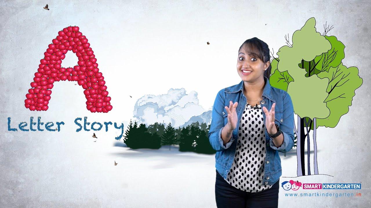 alphabet  Story LETTER A - KG1