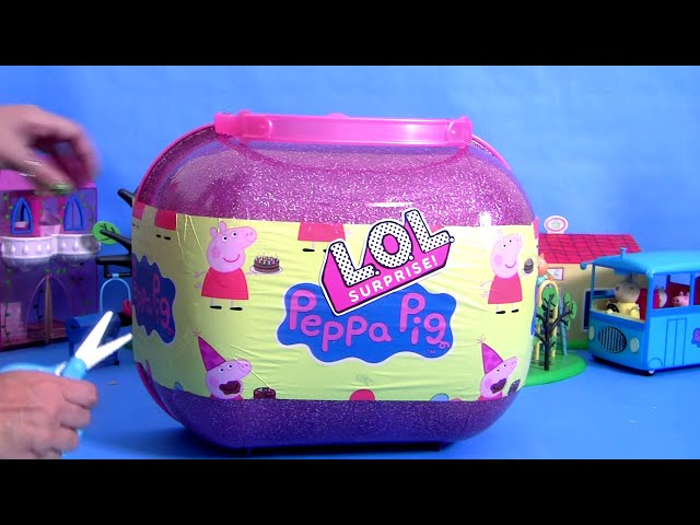 L.O.L. Peppa Pig Bigger Surprise Complete Collection of Toys Dolls Clay for Girls