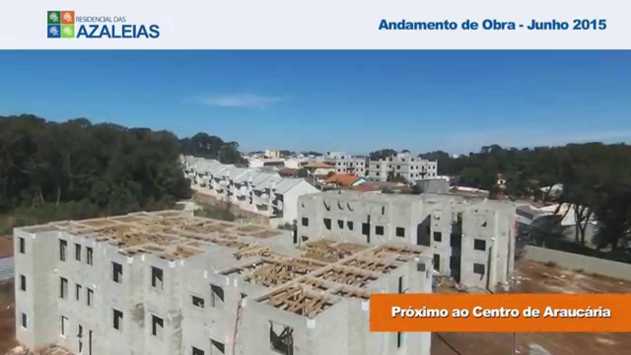 5e111163b1 Andamento de Obra - Junho.2015 - Residencial das Azaleias - YouTube