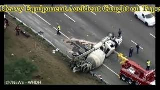heavy equipment accidents caught on tape, amazing truck accidents, excavator accidents and