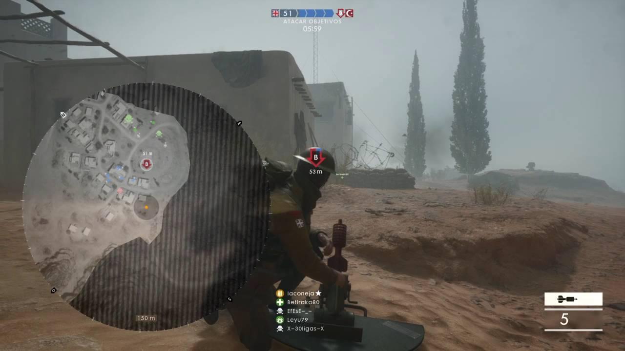 battlefield jugando con el mortero