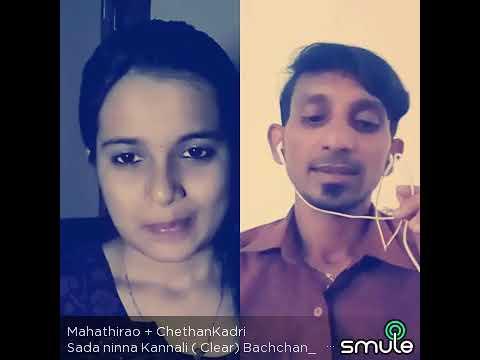 Sadha Ninna kannale from BacchanKannada  Movie sang with Mahathi Rao