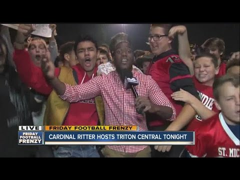 Students at Cardinal Ritter High School were pumped up this morning for Friday Football Frenzy
