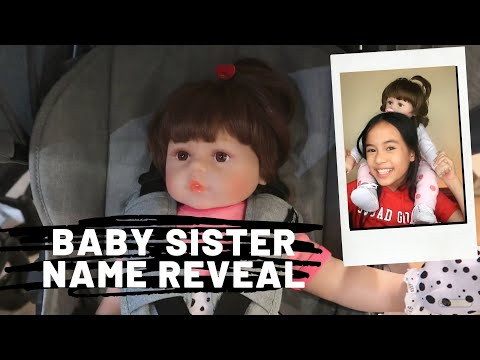 BABY SISTER NAME REVEAL + BABY STUFF HAUL (WE GOT HER A STROLLER!) REBORN DOLL | YESHA C. 🦄
